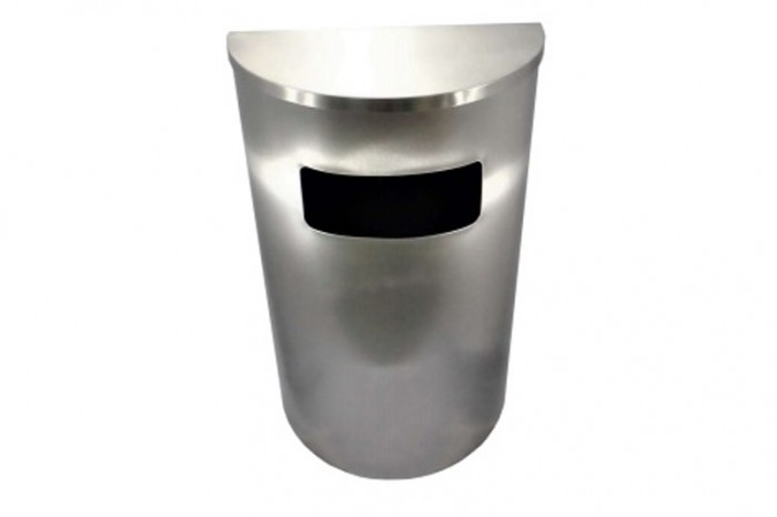 Stainless Steel Bin Semi Round c/w Flat Top