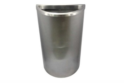 Stainless Steel Bin Semi Round c/w Open Top