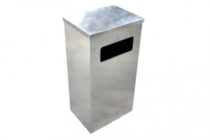 Stainless Steel Bin Rectangular c/w Flat Top
