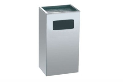 Stainless Steel Bin Rectangular c/w Ashtray Top