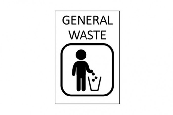 A4 size : General Waste or Food Remains (White)