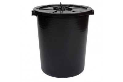26 Gallon Heavy Duty Pail with Cover (Black)