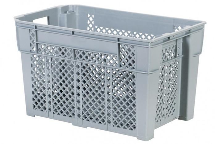 Industrial Stackable Basket - Grey