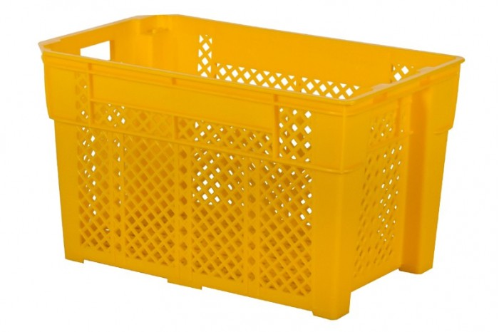 Industrial Stackable Basket - Yellow
