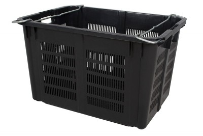 Industrial Stackable Basket - Black