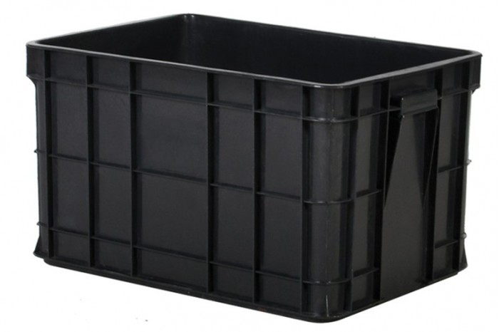 Industrial Stackable Container - Grey / Black