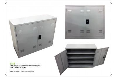 Steel Shoe Rack c/w Fixed Shelves