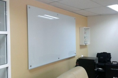 6mm Tempered Glass Whiteboard - Non Magnetic
