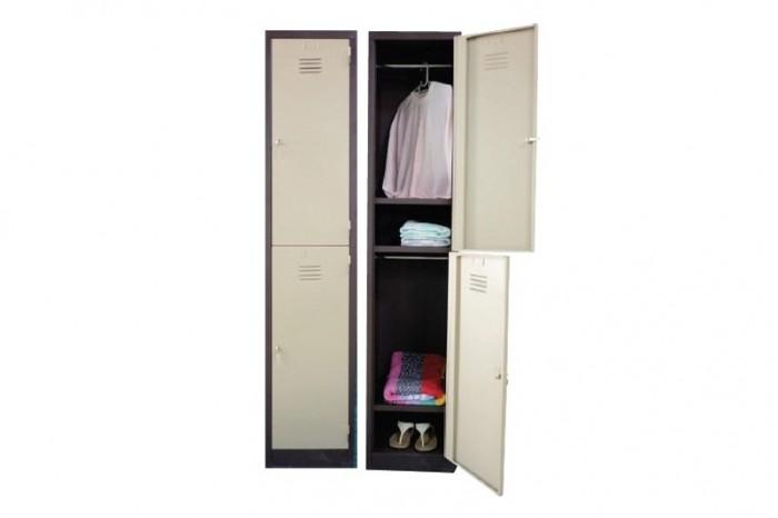 2 Compartment Steel Locker