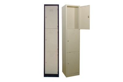 3 Compartment Steel Locker