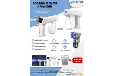 Nano Portable Atomizer + Sanitizing Disinfectant Liquid
