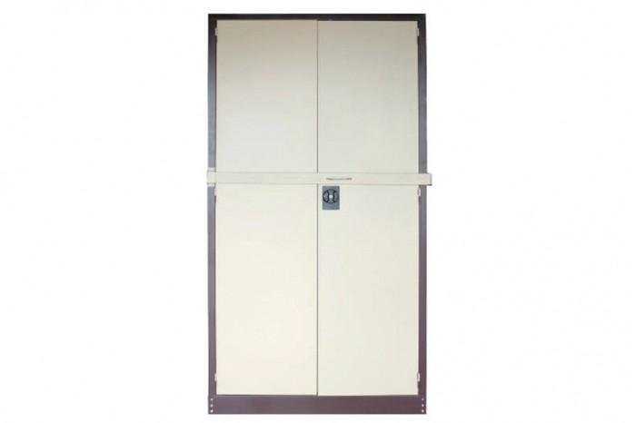 Full Height Cupboard w Steel Swinging Door c/w 3 Adj Shelf & Locking Bar