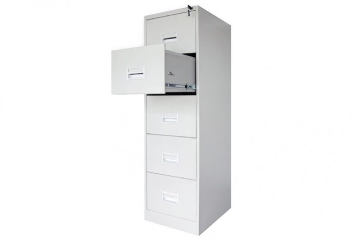 5 Drawer Filling Cabinet With Recess Handle c/w Ball Bearing Slide