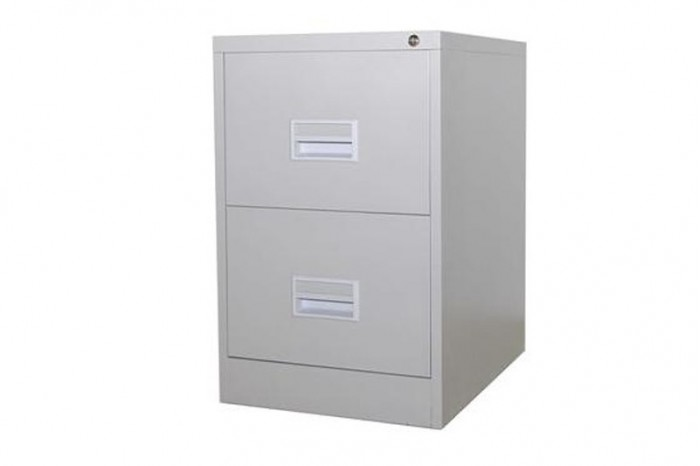 2 Drawer Filling Cabinet With Recess Handle c/w Ball Bearing Slide