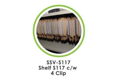 Shelf S117 c/w 4 Clip