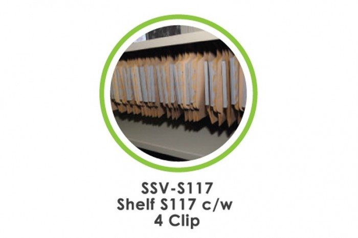 Shelf S117 c/w 4 Clip