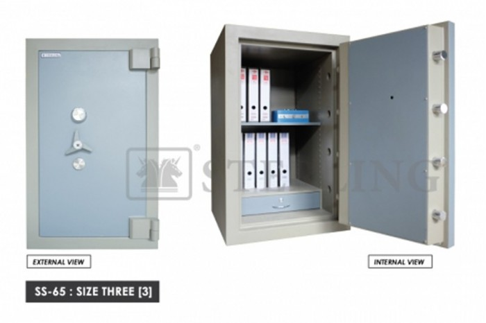 Banker Safe Size Three Secured by Keylock & Combination Lock
