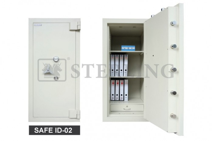 Safe ID 2 with Additional 2 Moving Bolts on Each Top & Bottom
