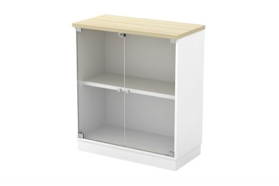 Swinging Glass Door Low Cabinet