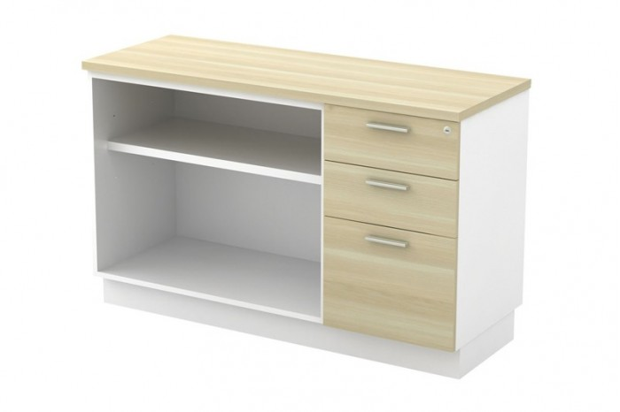 Open Shelf + Fixed Pedestal 2D1F