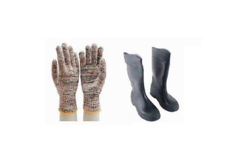 Hand Glove & Rubber Boots