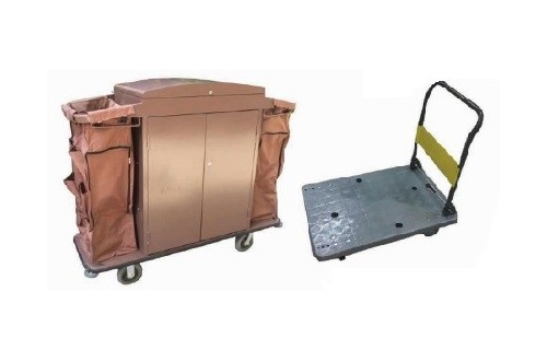 Stainless Steel House Keeping & Luggage Trolley
