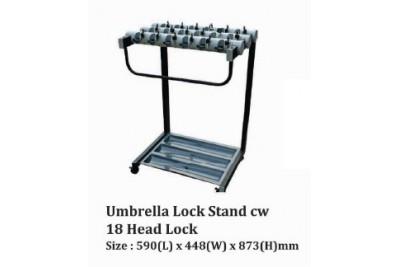 Umbrella Lock Stand cw 18 Head Lock