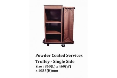 Powder Coated Services Trolley - Single Side