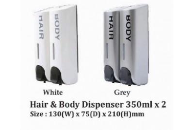 Hair & Body Dispenser 350ml x 2
