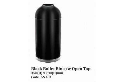 Black Bullet Bin c/w Open Top
