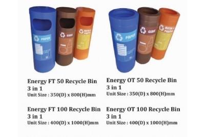 Energy Recycle Bin 3 in 1