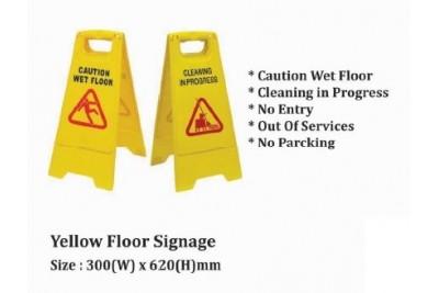 Yellow Floor Signage