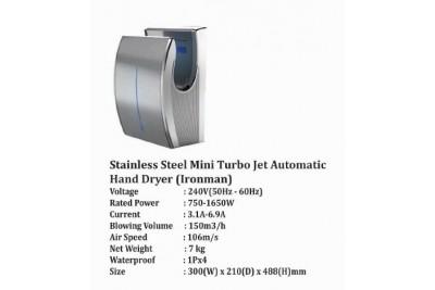Stainless Steel Mini Turbo Jet Automatic Hand Dryer (Ironman)