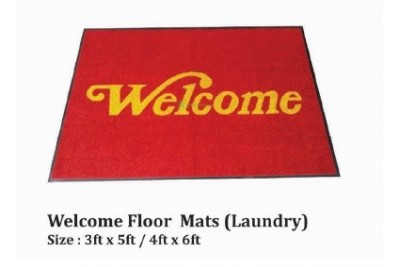 Welcome Floor Mats (Laundry)