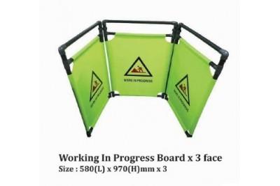 Working In Progress Board x 3 face
