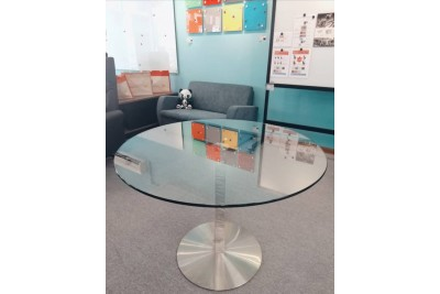 Stainless Steel Tempered Glass Round table