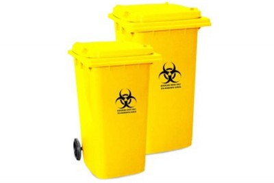 Biohazard Mobile Garbage Bin 2-Wheel (120 / 240 Liters)