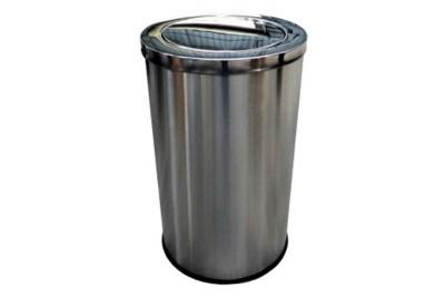 Stainless Steel Bin Round c/w Flip Top (XL)