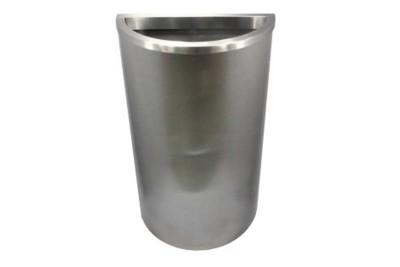 Stainless Steel Bin Semi Round c/w Open Top