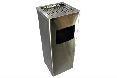 Stainless Steel Bin Square c/w Ashtray Top