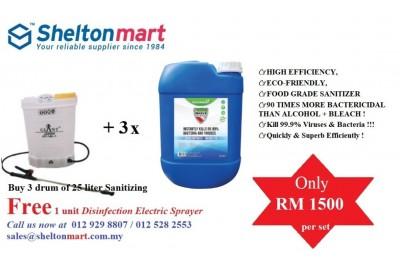 Marvekleen Disinfectant / Sanitizer + Free Electronic Sanitizing Sprayer