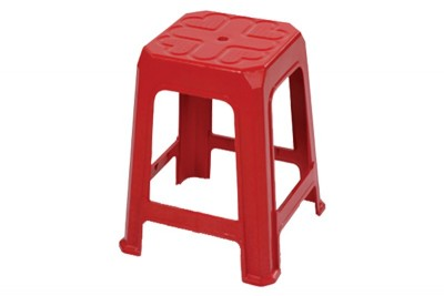 Plastic Stool - Red