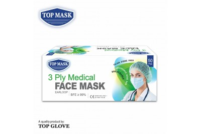 Top Mask 3 Ply Medical Face Mask (50pcs/box)