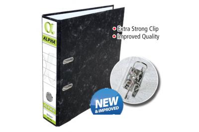 Alpha 3″ Lever Arch File – Silver