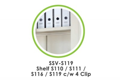 Accessories - Shelf S110/111/116/119  c/w 4 Clip