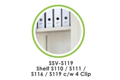Accessories - Lateral Shelf S117 c/w 4 Clip