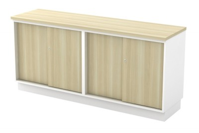 Dual Sliding Door Low Cabinet
